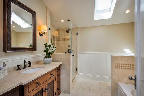 Sử dụng đá Marble Crema Marfil trong phòng tắm