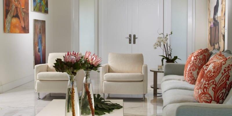 Đá tự nhiên marble lát sàn phòng khách